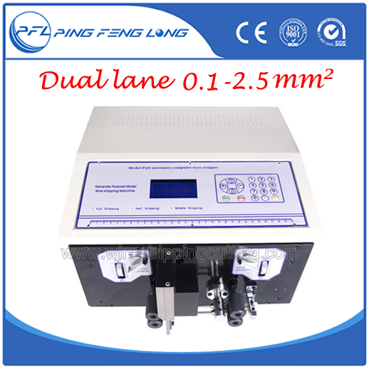 PFL 02D Automatic Wire Stripping Cutting Machine Dual Wire Feeding ...