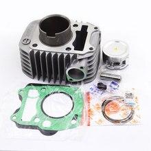 Kit de cilindro da motocicleta std para honda anf125 innova onda biz 125 nf125 afp125 bc125 nf afp anf 125 extremidade superior junta anel pistão