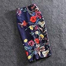 Women Skirts Summer Print Flowers Pencil Skirt Casual Skirts Knee-Length Plus Size Faldas Mujer Moda Jupe Femme