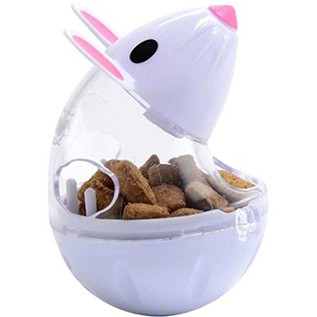 Cute Pet Feeder Toy Cat Mice Shape Food Rolling Leakage Dispenser Bowl Kitten Playing Training Educational Toys