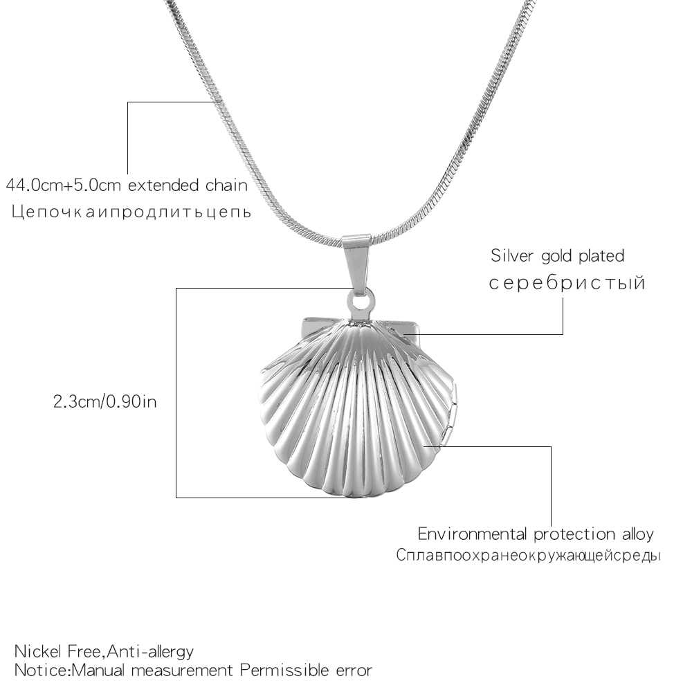 Shefly Sereias Do Mar Shell Colar Medalhão de Bronze Antigo Do Vintage Pequena Concha de Ouro Pingente de Jóias Presente de Aniversário colar de concha