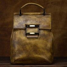 Norbinus, винтажный женский рюкзак из натуральной воловьей кожи, женский рюкзак для путешествий, школьный рюкзак для девочек-подростков