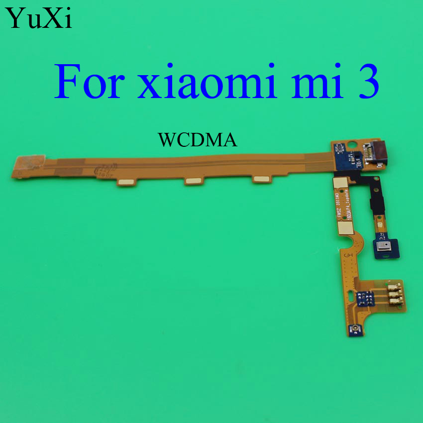 YuXi WCDMA Micro USB Port Dock Connector Flex Cable For Xiaomi 3 Mi3 M3 USB Charging Port Flex Cable