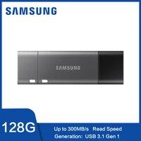 Samsung USB 3.1 Flash Drive 128GB 32GB 64GB 256GB DUO Plus OTG TypeC USB C Pen drive 128 gb for Chromebook & Macbook cle usb