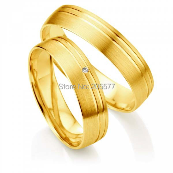 titan trauringe Germany style His and hers wedding bands Gold