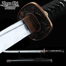 Chinese manufacture Katana Home Decorations Samurai sword 1060 forging steel Gulong Alloy Tsuba Decorative knife