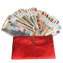 US $16.9 |Set 52 pcs Notes from 28 Countries UNC , Real Original (but expired, out of use now) with red envelope, original world note gift-in Non-currency Coins from Home & Garden on AliExpress