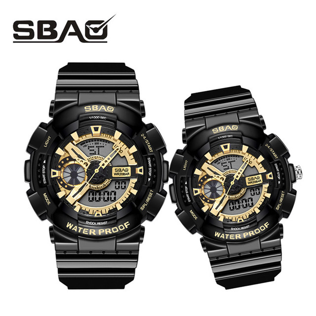Luxury Couple Wristwatches Men's Women's Digital Sport Watch Swimming Quartz Wat