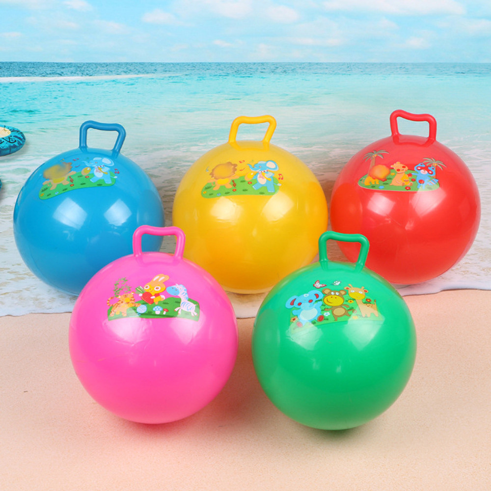 Kids Toys Kendama Marble Ballon Blanc Gonflable Handle Ball Holiday Pool Party Swimming Garden Large Inflatable Beach Ball Toy