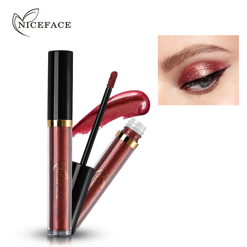2018 NICEFACE Liquid Eye Shadow Shimmer Glitter Metales Nude Glow - Maquillaje - foto 3