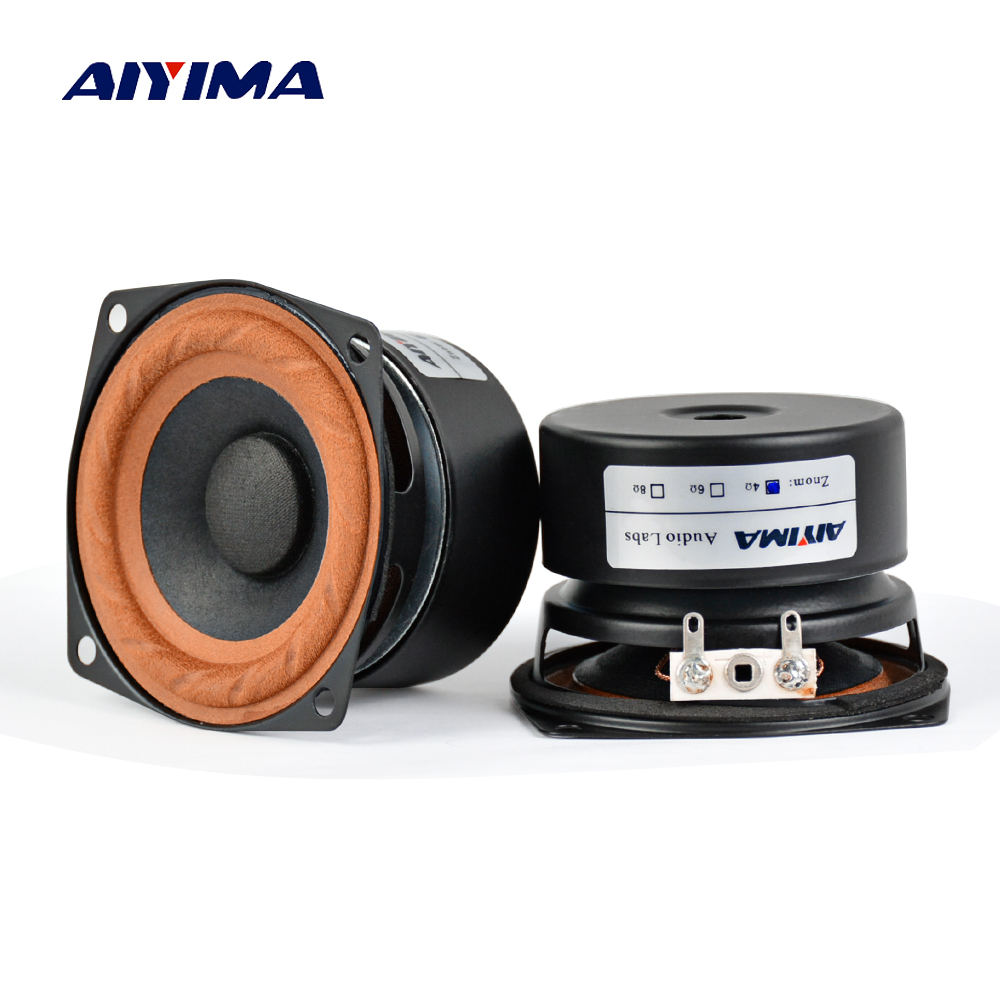 AIYIMA 2Pcs 2.5inch Audio Portable <font><b>Speakers</b></font> 4 ohm <font><b>8Ohm</b></font> <font><b>15W</b></font> Full Range Hifi Bass <font><b>Speaker</b></font> DIY For Home Theater image