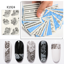 Mtssii Rosette Sliders for Nails Lace Nail Art Sticker Leopa