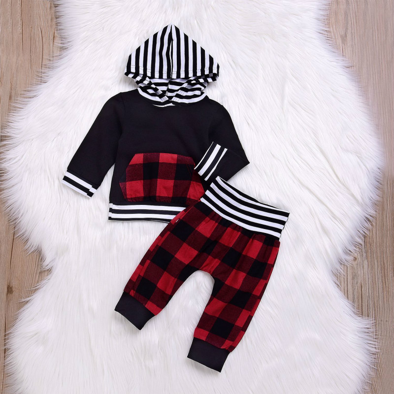 Infant Boy Clothing Sets Cotton Baby Boy Clothing Sets Gentlman Long Sleeves Striped Tops T-shirt+Pants 2pcs Outfits Set Suits