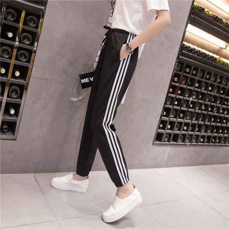 LOIEJOHHI summer Women's pants 2018 New Simple Fashion Sweatpants Female Loose Casual Wide leg pants female S-XXL KMK06 5