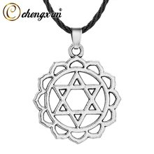 CHENGXUN Hollow Star of David Pendant Necklace For Women Men Jewelry Accessories Viking Amulet Vintage Hexagon Necklac(China)