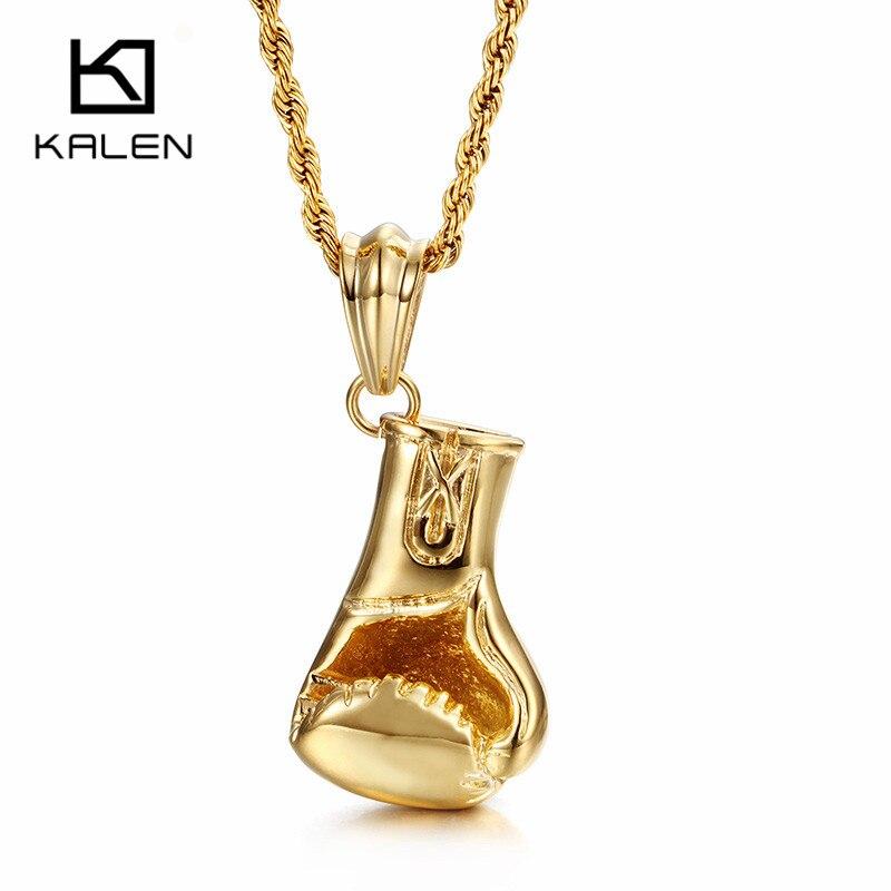 Kalen Trendy Fist Necklaces Men S Stainless Steel Gold