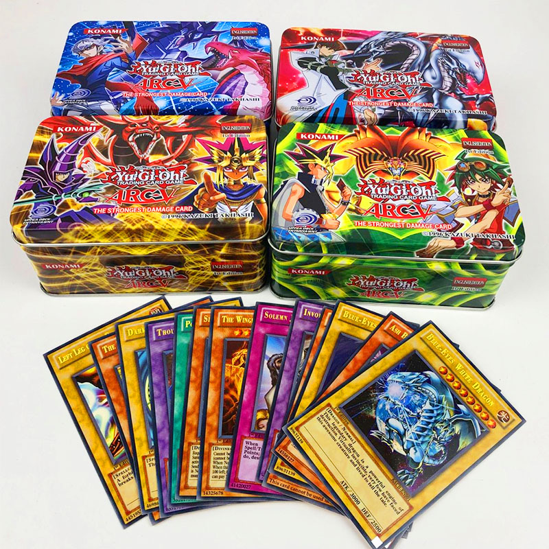 45pcs/set Yu Gi Oh Game Cards Classic YuGiOh Game English Cards Carton Collection Cards With Flash Card And Metal Tin Box Toys