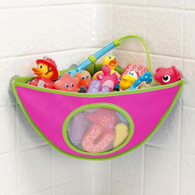 Hanging Bath Toys Organizer in Bathroom