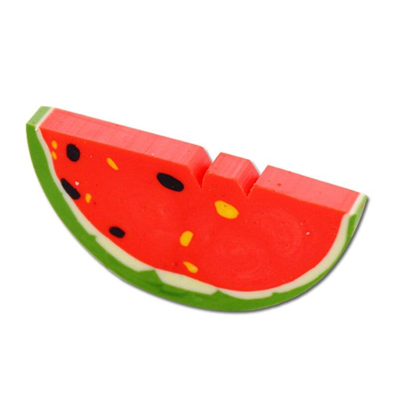 1 Pcs Novelty Cartoon Watermelon Rubber Eraser Kawaii Creative Stationery School Supplies Papelaria Gifts For Kids