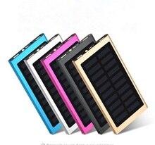Ультра тонкий светодиодной подсветкой солнечного света Запасные Аккумуляторы для телефонов с тонкий внешний Мощность Bank 20000 мАч солнечное зарядное устройство для мобильных устройств iPhone открытый