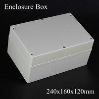 1 Piece Lot 240 160 120mm Grey ABS Plastic IP65 Waterproof Enclosure PVC Junction Box