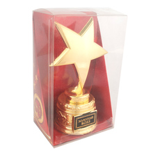 Russia charm metal trophy cup to model. company souvenirs decoration Gifts Rewards.The gift to the boss, gold stars(China)