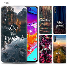 Bags Case for Samsung Galaxy Mobile Phone A50 A70 A30 A20 J4 J6 J8 A6 A8 M30 A7 Plus 2018 Note 8 9 Quotes Aesthetic Tumblr Coque(China)