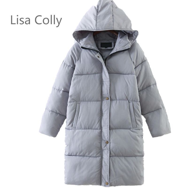 Lisa Colly Fashion Long Parkas Female Women Winter Coat  Cotton Winter Jacket Womens Outwear Parkas for Women Winter Outwear lisa corti сандалии