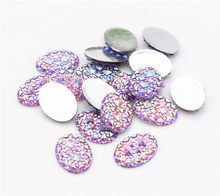 20 Pcs/lot 13X18 Mm Baru Fashion Ungu Warna Datar Kembali Resin Cabochons Perhiasan Aksesoris Perlengkapan(China)
