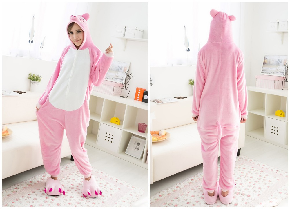 ce4d2b81d5a1 Pink Pig Onesies Pajamas For Adults Animal Cosplay Pyjamas Unisex Cartoon  Anime Cosplay Costume
