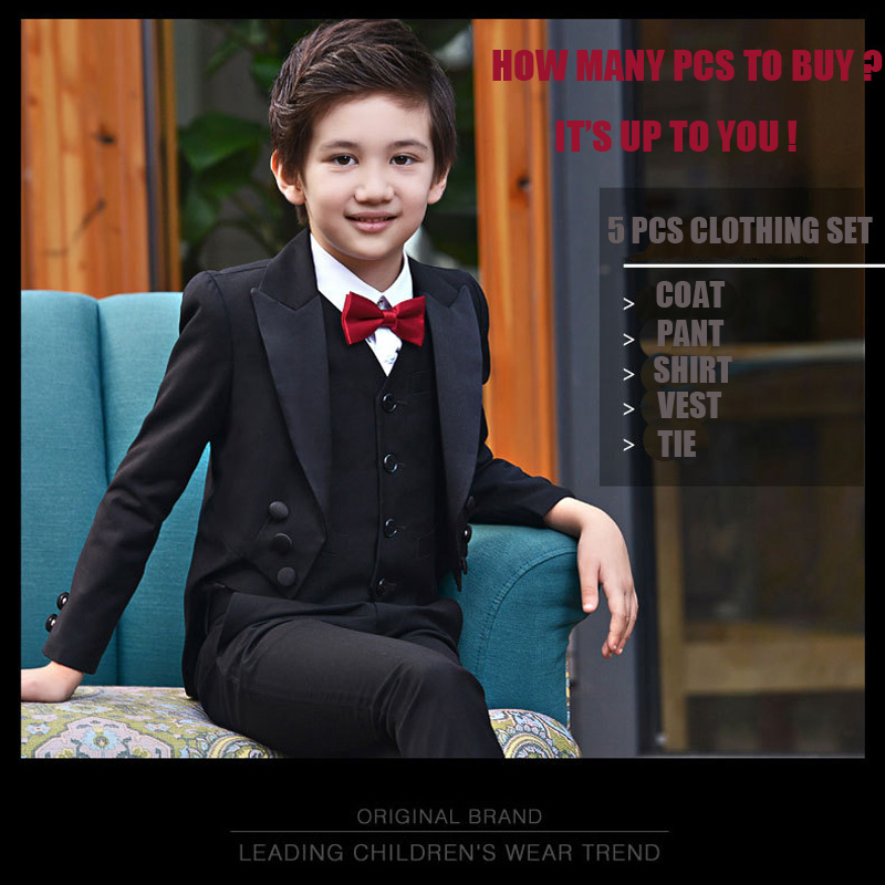 Boys Suits For Weddings 95CM-165CM Kids Prom Suits Wedding Clothes for Boys Children Clothing Sets  Boy Tuexdo  Boys Dresses 2016 new arrival fashion baby boys kids blazers boy suit for weddings prom formal wine red white dress wedding boy suits