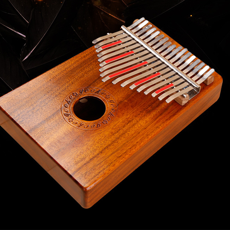 US $45 7 |Professional tone mahogany 1 minute can learn musical instrument  finger play KALIMBA 17key Kalimba-in Piano from Sports & Entertainment on