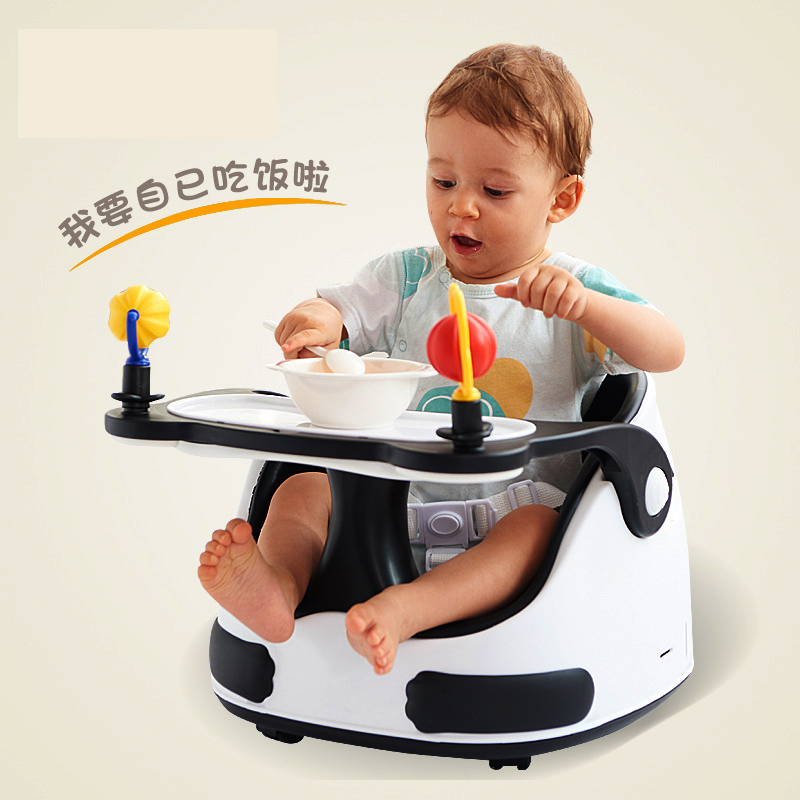 Baby Dining Chair Portable Multi-function Learning Sitting Table Chair Baby Scooter Multi-range Adjustment Kids Chair 1-5Y