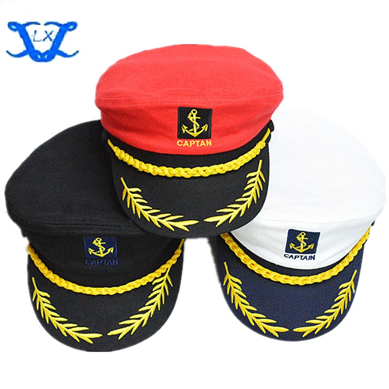 Novelty & Special Use Navy Cap Cotton Seaside Captain Uniform Hat White Sailor Cap Air Force Flying Hat For Baby & Adult Costumes & Accessories