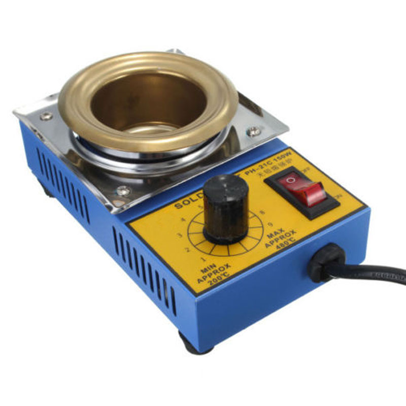 Electric Soldering Irons Pot 150W Temperature Controlled Desoldering Bath Tin Melting Plate Tin Cans 50mm 220V 150W