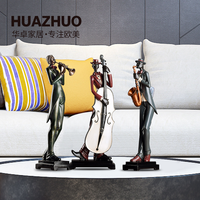 TV cabinet porch creative decoration living room American character home decoration accessories miniature figurines