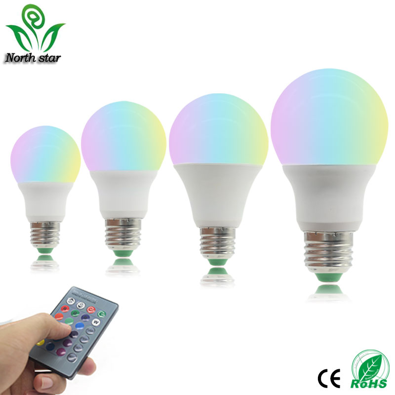 Led Bulbs Lamp E27 Rgb 3w 5w 7w 9w Led Rgb Bulb Light 110v