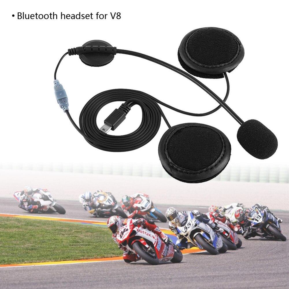 Bluetooth микрофон для телефонной гарнитуры Динамик гарнитуры и Шлем Интерком клип для V8 мотоциклетный шлем-приспособление аксессуары