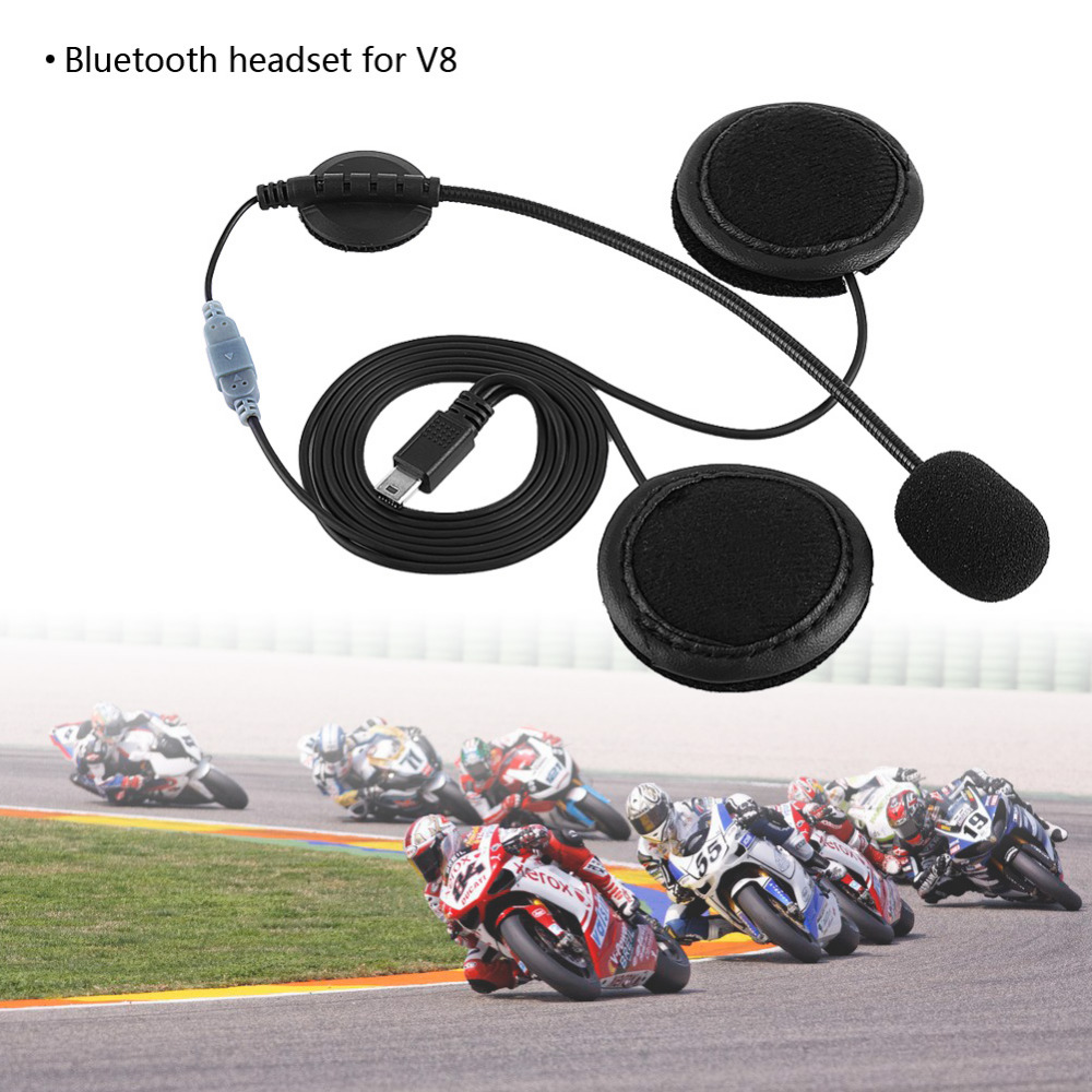 Bluetooth Headset Headphone Microphone Speaker Headsets And Helmet Intercom Clip For V8 Motorcycle Helmet Device Accessories