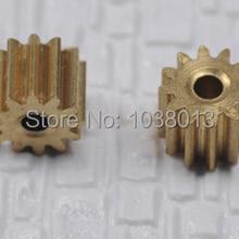 Металл Медь передач 12-2A 0.5 Модуль диаметр 2 мм 12 зубов ОД 6 мм толщиной 4 мм