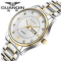 New Mens Luxury Watches Top Brand GUANQIN Men Fashion Casual Watch Date Week Luminous Full Steel