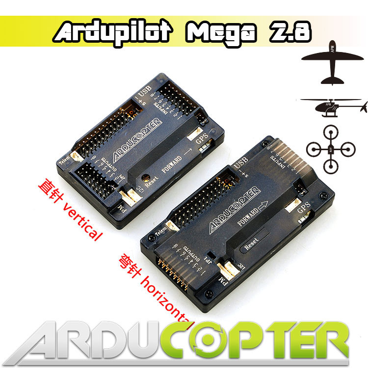 Free Shipping APM2.8 ArduPilot Mega APM 2.8 APM Flight Controller Board with Case & Cables for RC Quadcopter Multicopter f14586 b apm 2 8 apm2 8 rc multicopter flight controller board compass