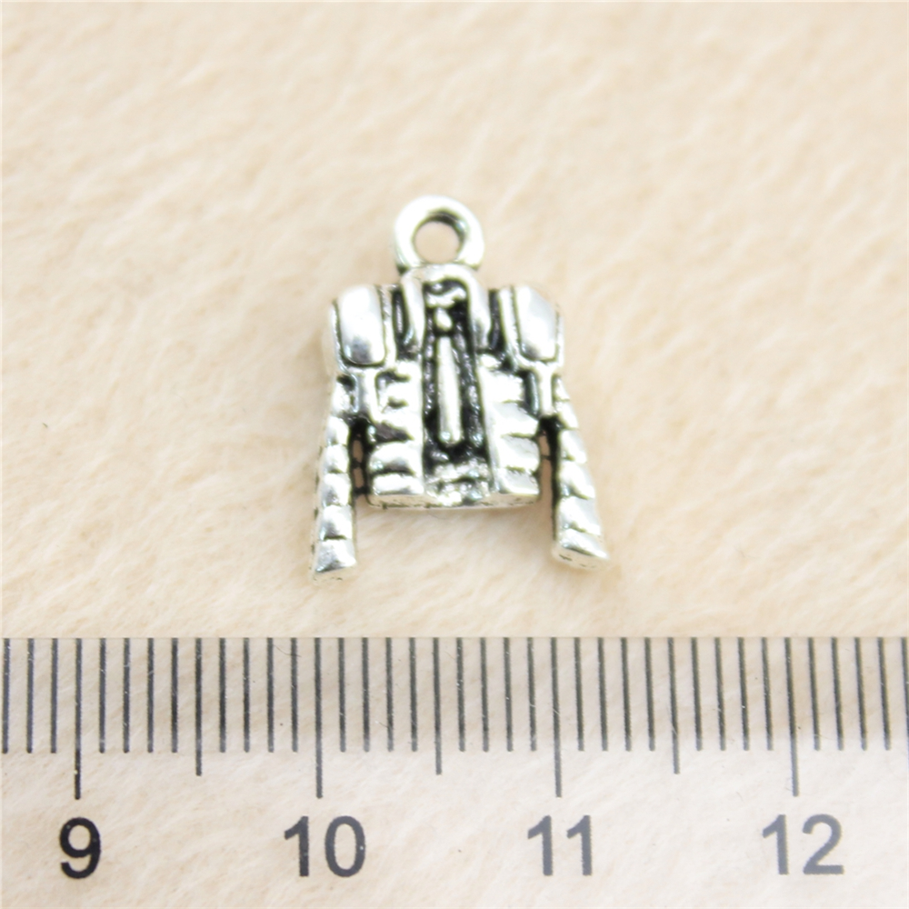 6pcs Silver Charms For Bracelet Making Material Vintage Decoration Jewelry Football Clothes Pendant Jb13346