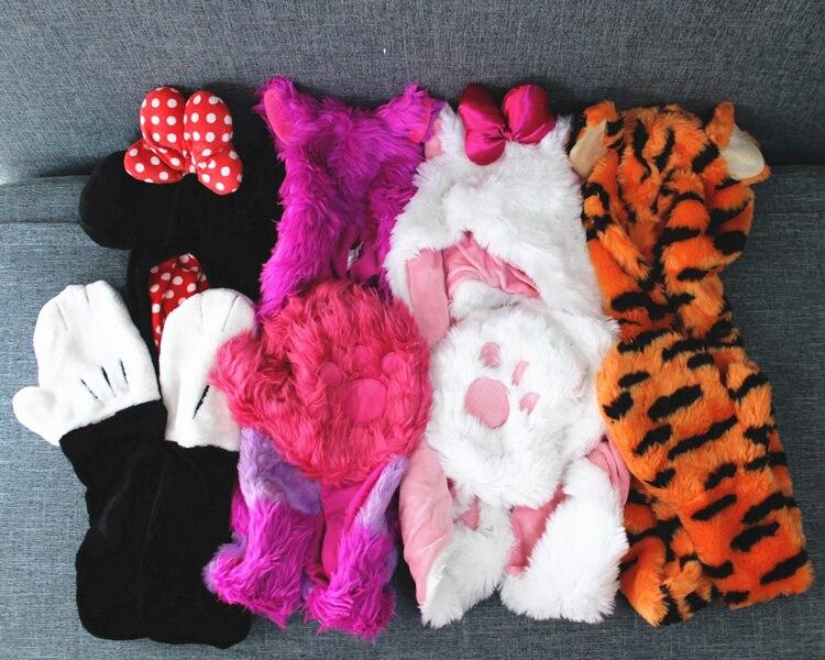 1 pezzo Originale minnie Cheshire Cat marie gatto tigro Peluche Cos Cappello Guanti Ragazza Collezione Regalo Di Compleanno