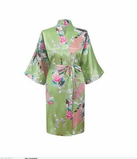 Di alta Qualità Viola delle Donne di Seta del Rayon Accappatoio Novità Kimono Abito Floreale Sexy Degli Indumenti Da Notte di Trasporto libero S M L XL XXL XXXL