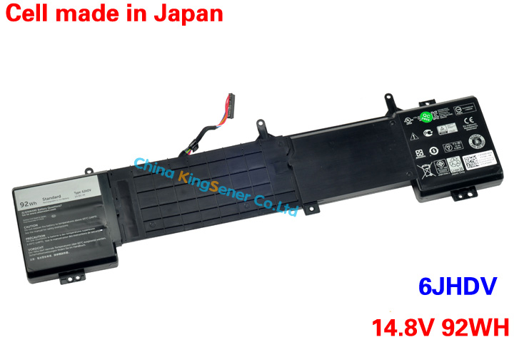 где купить  Japanese Cell Original New Laptop Battery 6JHDV for DELL ALIENWARE 17 R2 6JHDV 14.8V 92WH Free 2 Years Warranty  дешево