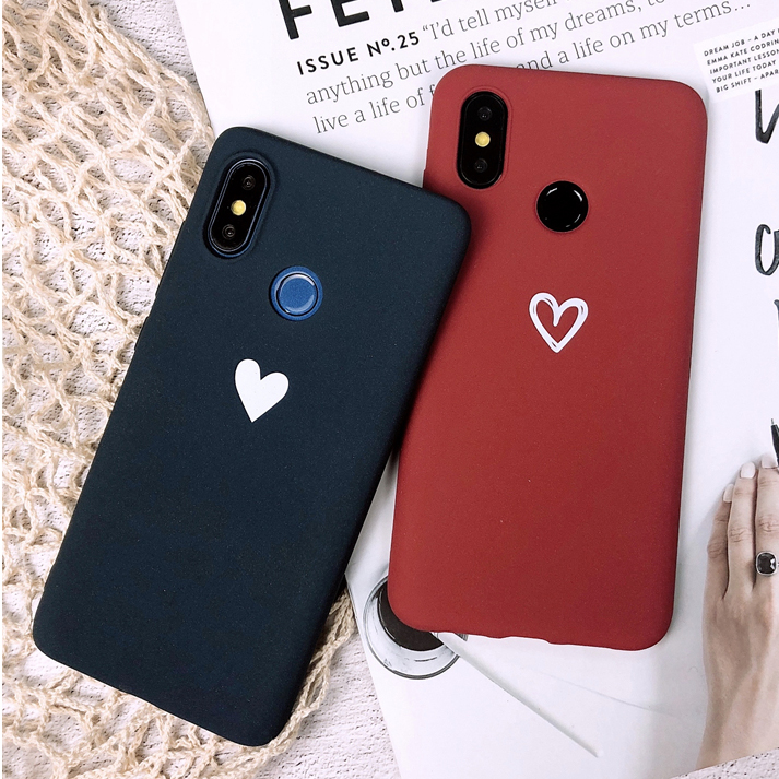 Love Heart Soft <font><b>Case</b></font> for Xiaomi <font><b>Mi</b></font> 9 8 A2 Lite 5X 6X A1 Silicone <font><b>Case</b></font> for Redmi 4A 4X 5 Plus 5A 6A 6 Pro Note 4 7 S2 Phone <font><b>Cases</b></font> image