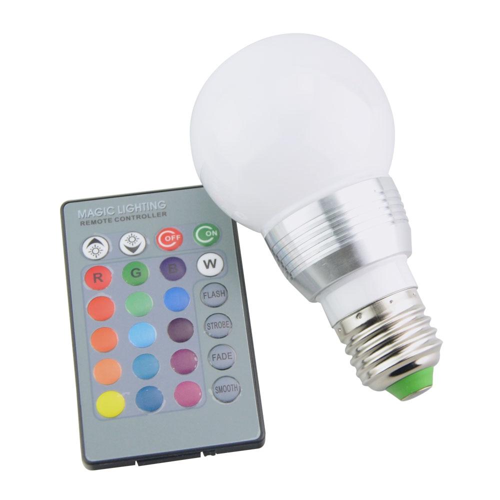 Image 3 - E27 E14 LED 16 Color Changing RGB Magic Light Bulb Lamp 85 265V 110V 120V 220V RGB Led Light Spotlight + IR Remote Control-in LED Bulbs & Tubes from Lights & Lighting