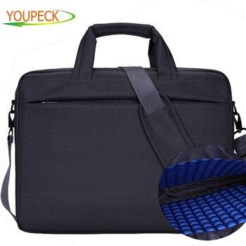 12 13 14 15 15,6 de 17,3 pulgadas del ordenador portátil bolsa impermeable bolso de la computadora, bolso portátil Unisex caso maletín bolsa de mensajero