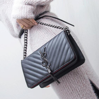2019 Newest Fragrance Style Messenger Bag Shoulder V shaped Rhombic Chain Shoulder Bag Pu Leather Lady Handbag Sac A Main Bolsas
